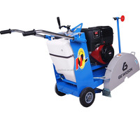 Manual push /semi -automatic diesel 9/10 hp concrete cutter floor saw
