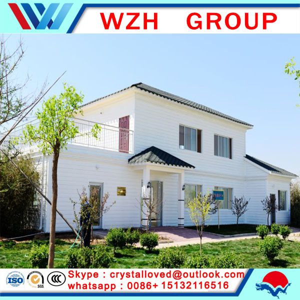 small house light steel structure prefab sandwich panel villas from china supplier