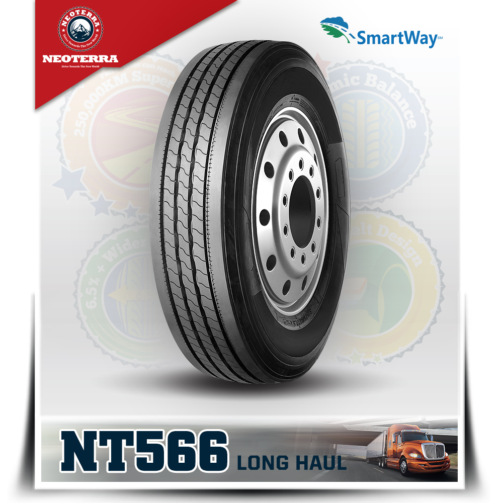 NEOTERRA brand 11R24.5 11R22.5 Trailer Tires with smartway