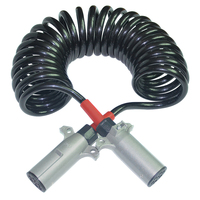 Truck spring spiral trailer coiled cable