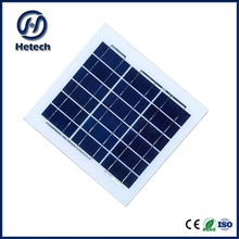 9v poly polycrytalline pv small solar panel 6v 5w with out frame