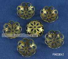 500 Pcs Antique Bronze Flower Bead Caps Findings 12*3mm