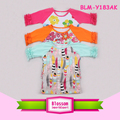 kids summer wear infant ruffle icing raglan shirt 1/2 sleeve raglan floral t shirt