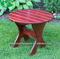 Wooden adirondack chair side table