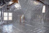 Solid White Radiant Barrier Solar Attic Foil Reflective Insulation Shield