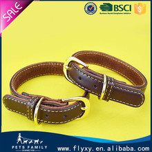 factory wholesale 2015 high quality genuine leather dog collars