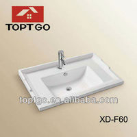 Sanitary Ware Bathroom Countertops With Built In Sinks XD-F60