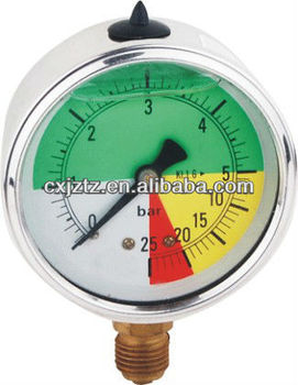 "63mm(2.5"") Special oil filled pressure gauge YN63CH"