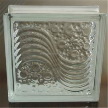 cheap clear decorative glass blocks with hot selling type sea wave pattern Glass Block /Glass Brick