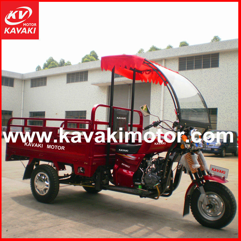 2014 Eletric/ kick start three wheeler car cargo trike motor with front windsheild