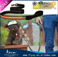 Good quality new products led leather dog leash and collar