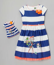 Boutique hot sale 18 inch doll clothes baby girl doll dress