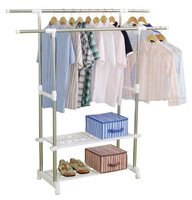 garment double-pole rolling clothing dryer rack for sale