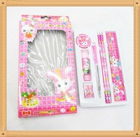 Cheap Stationery Set Items Pencil Glue Ruler Eraser
