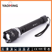 Led aluminum flashlight white beam powerful rechargeable hunting torch