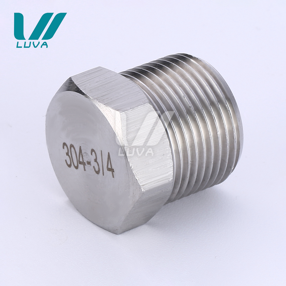 Manufacturer NPT BSPT BSP stainless steel male threaded hex plug for oil