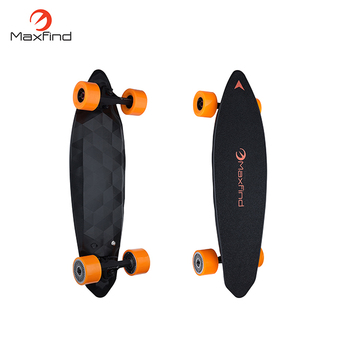 Dual motor electric skateboard with carbon fiber board