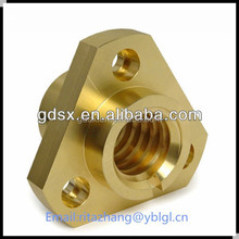 2014 hot sale China Dongguan manufacturer high precision brass bronze copper triangle adjustable screw nut OEM in china