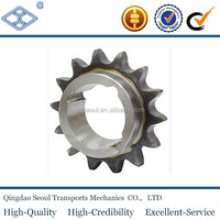 "OEM standard double pitch 2052 roller chain with keyway 14T 1 1/4"" harden teeth driven industrial sprocket"