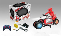 7CH Rotating Drift RC Motorcycle Stunt Car With Light For Kids BT-006056