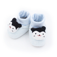 super soft newborn shoes light blue cat