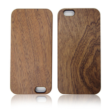Natural sapele wood case best selling wooden phone shell PC bottom cell phone cover for iPhone 6