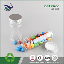 malaysia cheap custom transparent pet food storage container 350ml plastic cookie candy bottle jar