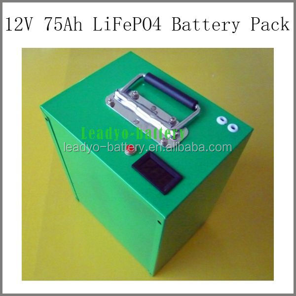 High Quality Long Life 12V 75Ah Battery Back Up Power Batteries LifFePO4 Cells
