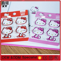 Hight Qulity airport line promotional gifts custom logo metal red pink hello kitty shape paper clips