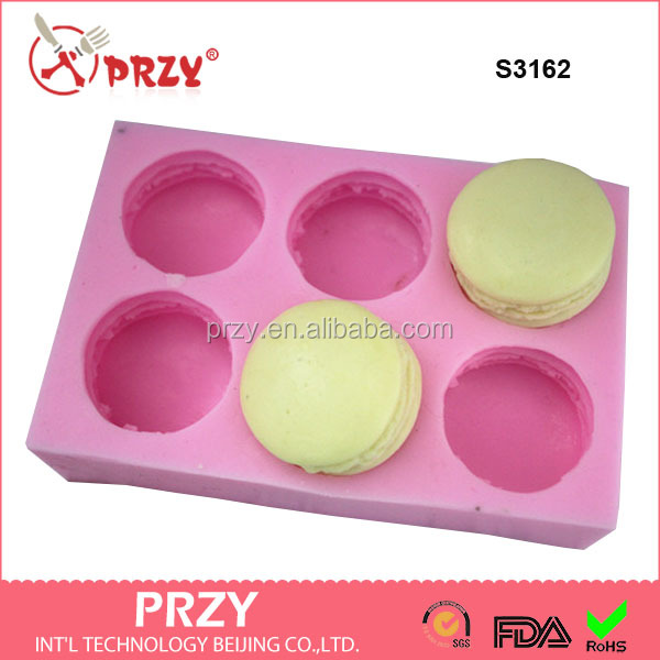 S3162 3d Macaron Shape Silicone Ice Cube Tray Chocolate Muffin Mold FDA