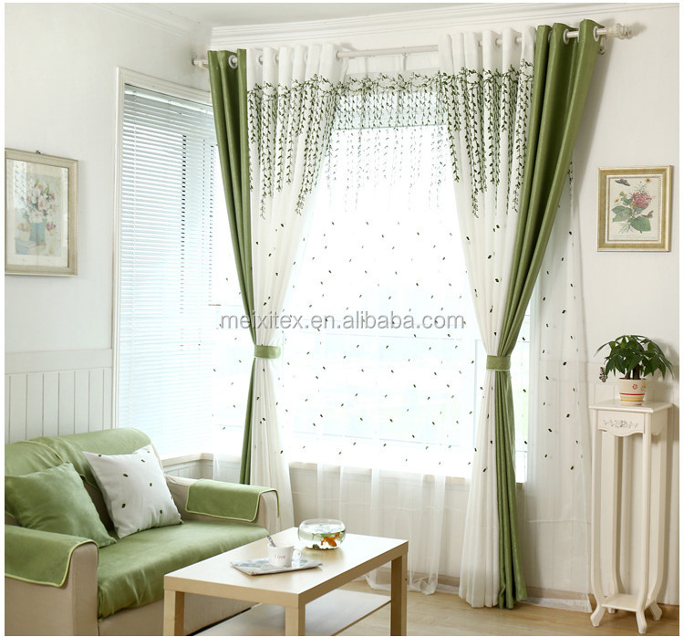Latest Designs Ready Made Curtains Luxury Polyester