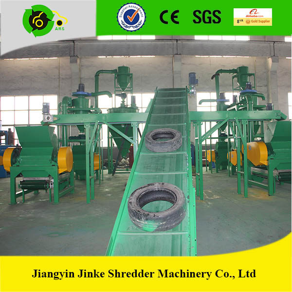 Non-polluting profitable tire recycling equipment