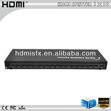 HDMI Splitter 1x16,black,support 3d,up to 1080P