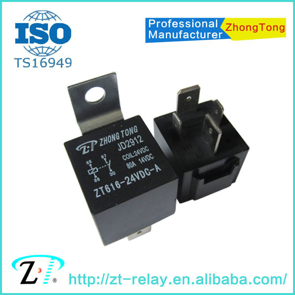 12v 24v 4pin 5pin 80a 100a Iron auto relay JD1912/1914 JD2912/2914 Hongfa relays