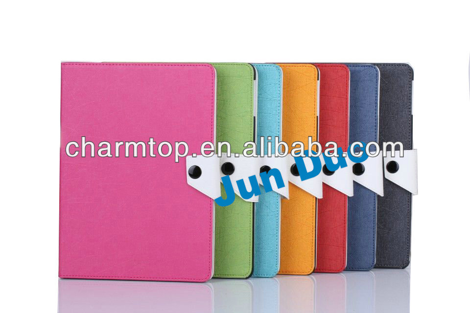 Contrast Color Leather Stand Case for iPad 5