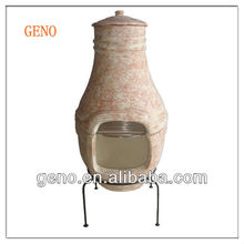 Terracotta Clay Chiminea garden decoration