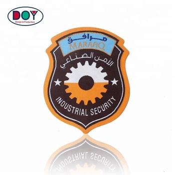 Wholesale Laser Cut Iron-on Design Custom Shape Brand Name Logo Woven Labels Patches for Jacket