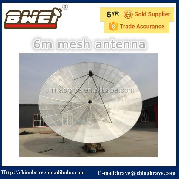 high definition 6m c band satellite dish 6m mesh antenna with high gain