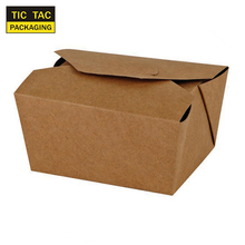 Kraft Paper Lunch Box Disposable Salad Box Food takeaway Packaging Box