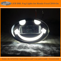 New Arrival 2-in-1 Projector Lens LED DRL Fog Lights for Honda Freed High Quality LED Foglights for Honda Freed 2010-ON