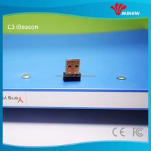 Mini low energy consumption USB bluetooth beacon