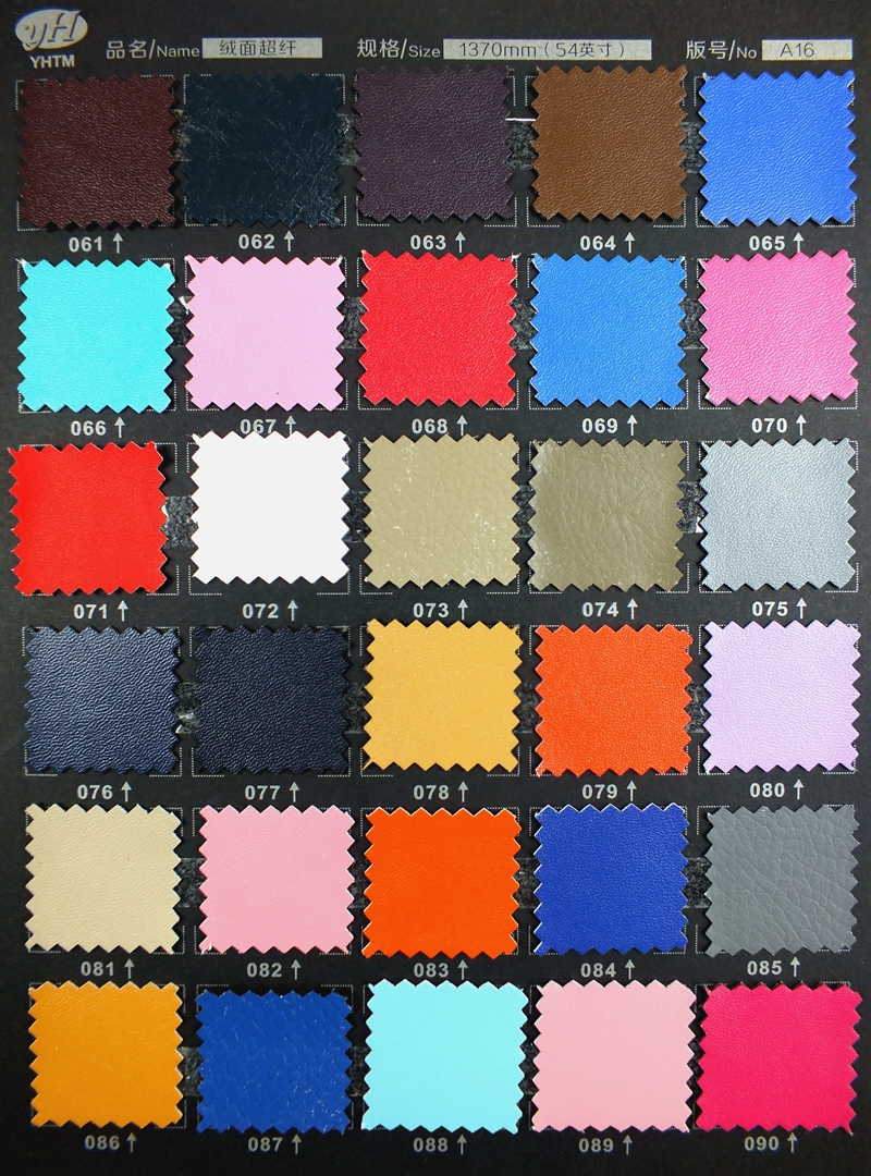 high quality microfiber nappa grain leather syntheitic leather