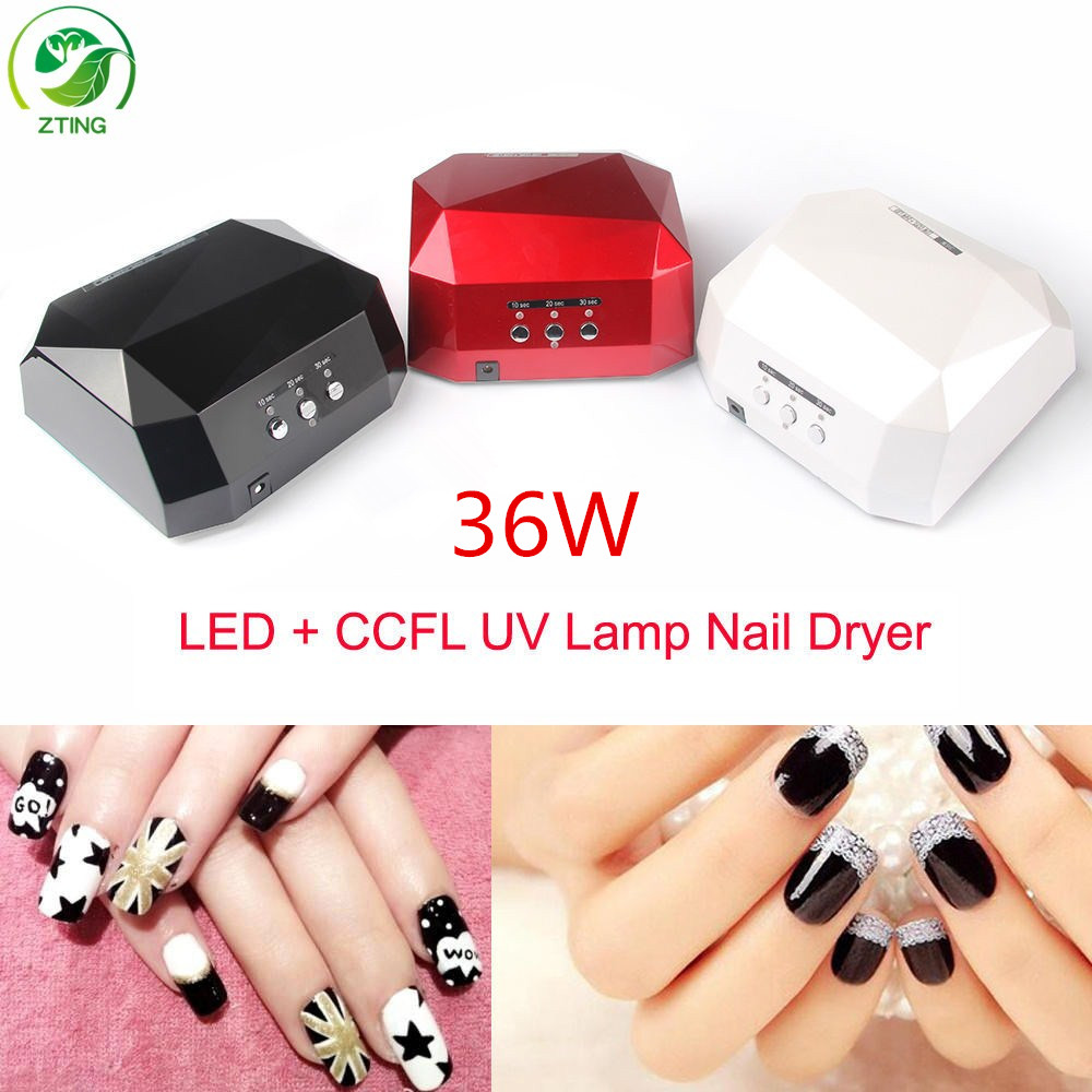 Double Cheap <strong>price</strong> uv nail lamp 36watt easy operated 36w diamond shape better led nail uv lamp
