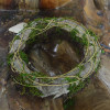 Garden ourdoor circle with salim scattered moss coil with crack rattan