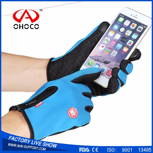 with Factory Price Waterproof Touch gloves,full finger cycling gloves