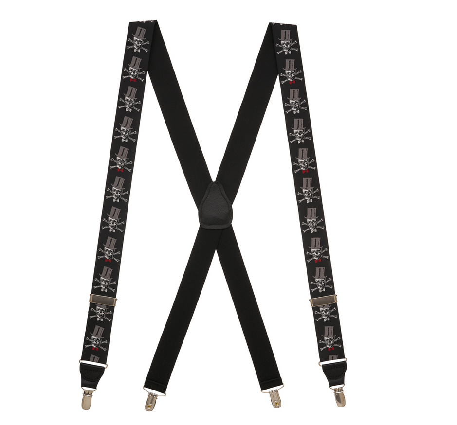 2017 Wholesale OEM High Strong quality printed working and causal tartan pu suspenders belt for men