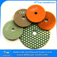 Angle Grinder Dry Marble Granite Slabs Polishing Pads
