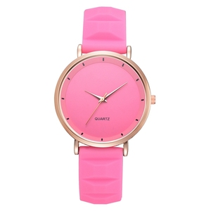 Classical Silicone Women Watch Candy Color Geneva Style Wristwatches Fashion Casual Ultrathin Girl Quartz Watches