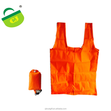 210D nylon T-shirt handle bag, foldable carry shopping bag, Custom promotion nylon bag