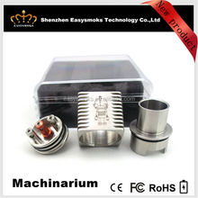 2015 Newest AUTHENTIC square rda Machinarium rda o pen vape pen with factory price, fit well with box mod